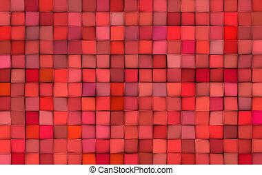 cor-de-rosa, padrão, abstratos, superfície, azulejo, vermelho, misturado, fundo