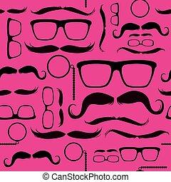 cor-de-rosa, padrão, hipster, fundo