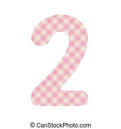 cor-de-rosa, padrão, quadrados, numere dois
