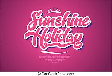 cor-de-rosa, palavra, texto, sol, tipografia, desenho, feriado, ícone