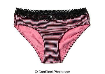cor-de-rosa, panties