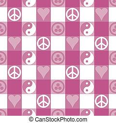 cor-de-rosa, paz, xadrez