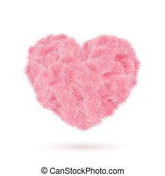 cor-de-rosa, pele, coração, para, seu, valentine, design.
