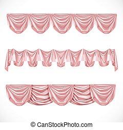 cor-de-rosa, pelmet, branca, isolado, fundo