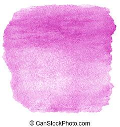 cor-de-rosa, pintado, abstratos, mão, aquarela, mancha, fundo, textured