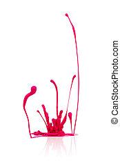 cor-de-rosa, pintura, abstratos, respingo