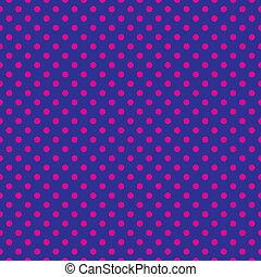 cor-de-rosa, pontos polka, ligado, experiência azul