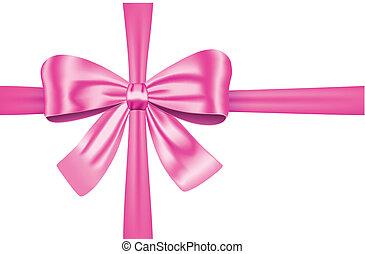 cor-de-rosa, presente, fita, arco