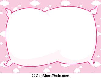cor-de-rosa, quadro, travesseiro
