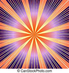 cor-de-rosa, raios, fundo, (vector), abstratos, lilas