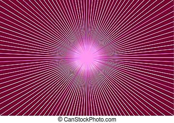cor-de-rosa, raios, starburst, bandeira, fundo