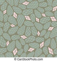 cor-de-rosa, repetir, padrão, folhas, seamless, vetorial, verde, cacto