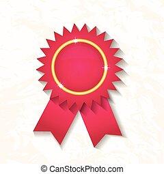 cor-de-rosa, ribbon., emblema, distinção