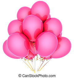 cor-de-rosa, romanticos, balões