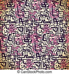 cor-de-rosa, roxo, padrão, linhas, seamless, emoções