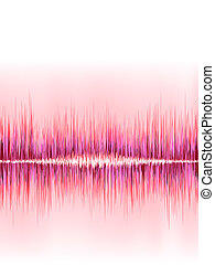 cor-de-rosa, som, +, onda, experiência., eps8, branca