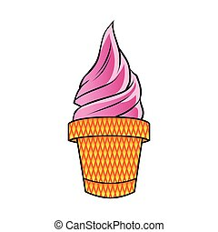cor-de-rosa, sorvete