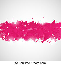 cor-de-rosa, splashes., abstratos, fundo, pintura