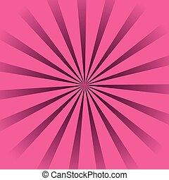 cor-de-rosa, sunburst, fundo
