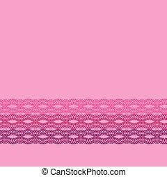 cor-de-rosa, tecido, renda, border., padrão, papel parede, seamless, superfície, vetorial, desenho, scrapbooking, projects.