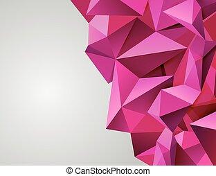 cor-de-rosa, triangular., modernos