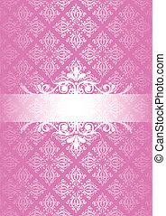 cor-de-rosa, vindima, vetorial, fundo