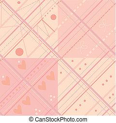 cor-de-rosa, xadrez, padrão, seamless, jogo, bebê
