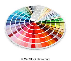 cor, desenhista, mapa, espectro