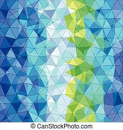 cor, diferente, triângulos, abstratos, fundo