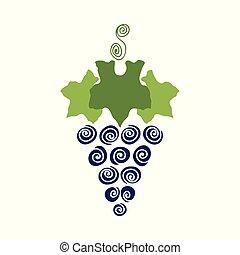 cor, doce, abstratos, suculento, papel, simplificado, printing., desenho, folha, tecido, doodle, background.childish, retro, scrapbook, jardim, embrulhando, fruta, uvas, papel parede, illustration., elemento, vetorial, icon., ou, art.