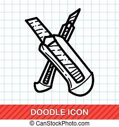 cor, doodle, faca, utilidade