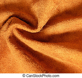 cor, drapejado, bronzeado, camurça, fundo