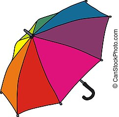 cor, engraçado, guarda-chuva