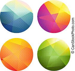 cor, esferas, jogo