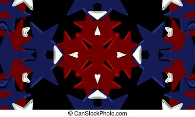 cor, estrelas, dado forma, flor