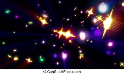 cor, estrelas, raio, explosão