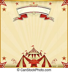 cor, fantástico, circo, quadrado, cartão