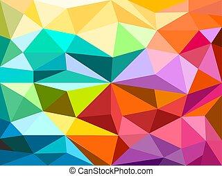 cor, figuras, abstratos, fundo, diferente