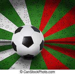 cor, futebol, futebol, fundo