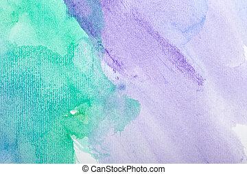 cor, golpes, quadro, arte, aquarela