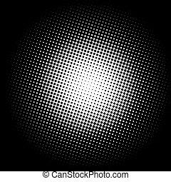 cor, gradiente, círculo, halftone