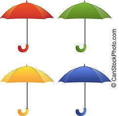cor, guarda-chuva