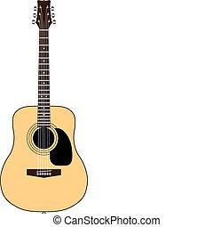 cor, guitarra acústica