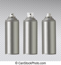 cor, ilustração, metálico, experiência., pulverizador, vetorial, paint., lata, transparente