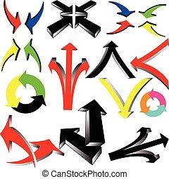 cor, ilustração, sinal