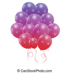 cor, ilustração, vetorial, lustroso, fundo, balões