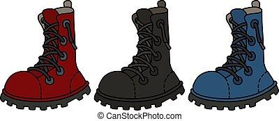 cor, laço, sapatos