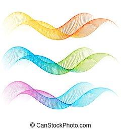 cor, linhas, jogo, curva