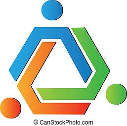 cor, logotipo, equipe, criativo