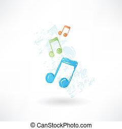cor, música, icon., grunge